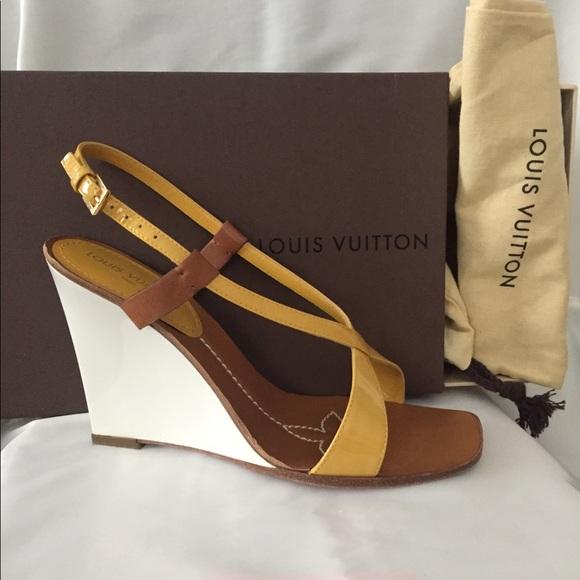 14b2352826d0 Louis Vuitton Shoes - Louis Vuitton Authentic Capricieuse Wedge Sandals